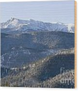 Pike National Forest In Snow Wood Print