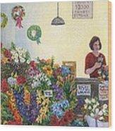 Pikes' Flower Market Wood Print