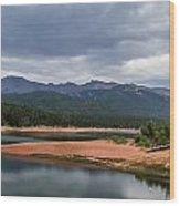Pikes Peak From Crystal Creek Reservoir  Wood Print