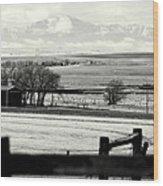 Pikes Peak From Ramah Wood Print