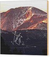 Pikes Peak Sunrise Close-up Wood Print