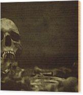 Pile Of Bones Wood Print