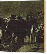 Pilgrimage To San Isidros Fountain, C.18213 Oil On Canvas Wood Print