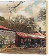Pilgrims Hotel And Stalls Wood Print