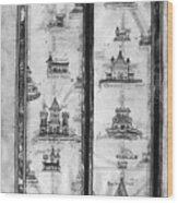 Pilgrims' Map, C1250 Wood Print