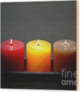 Pillar Candles Wood Print