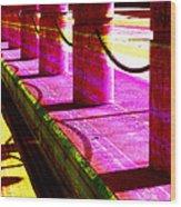 Pillars And Chains - Color Rays Wood Print