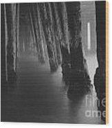 Pillars And Fog 1 Wood Print by Paul Topp