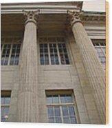Pillars And Windows Wood Print