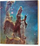 Pillars Of Creation In High Definition Cropped Wood Print