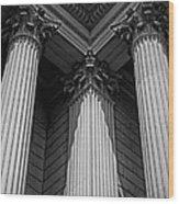 Pillars Of Strength Wood Print