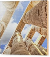 Pillars Of The Great Hypostyle Hall Wood Print