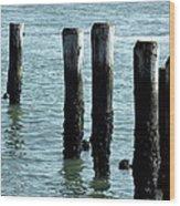 Pillars Of The Sea Wood Print