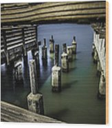 Pillars Over Pier 39 Waters... Wood Print