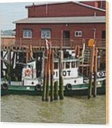 Pilot Boat Wood Print