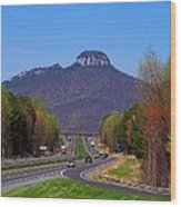 Pilot Mountain From Overlook Wood Print