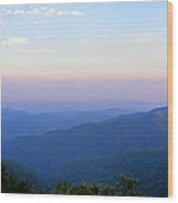 Pilot Mountain In Pisgah National Forest Wood Print