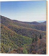 Pilot Mountain Near Balsam Grove Wood Print