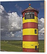Pilsum Lighthouse Wood Print