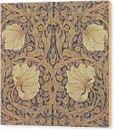 Pimpernel Wallpaper Design Wood Print by William Morris