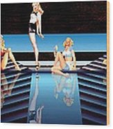 Pin Up Girls By 4 Wood Print
