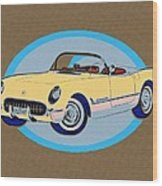 Pin Up Vette Wood Print