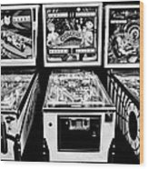 Pinball Memories Wood Print
