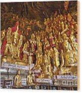 Pindaya Cave With More Than 8000 Buddha Statues Myanmar Wood Print