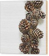 Pine Cones Wood Print