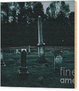 Pine Hill Cemetery Wood Print