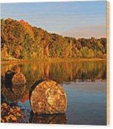 Pine Lake Reflection 3 Wood Print