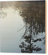 Pine Reflection Wood Print