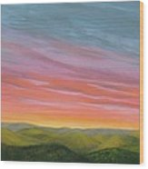 Pine Ridge Spring Sunset Wood Print