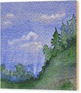 Pine Tree Hill  Wood Print