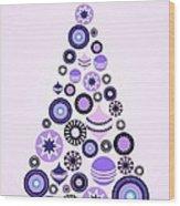 Pine Tree Ornaments - Purple Wood Print