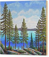 Pine Woods Lake Tahoe Wood Print