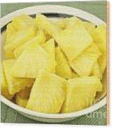 Pineapple Chunks Wood Print