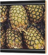 Pineapple Color Wood Print