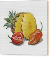 Pineapple Habanero Muy Caliente   Wood Print