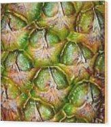 Pineapple Skin Wood Print