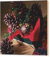 Pinecones Christmasbox Painted Wood Print