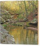 Piney Creek Reflections Wood Print