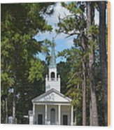 Piney Grove Church Wood Print