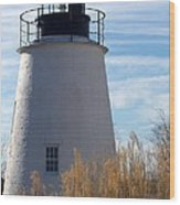 Piney Point Lighthouse Wood Print