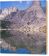 Pingora Peak On Lonesome Lake Wood Print