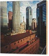 Pinhole Los Angeles Cityscape Wood Print