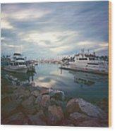 Pinhole Oceanside Harbor Wood Print