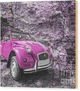 Pink 2cv  Wood Print