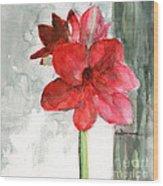 Pink Amaryllis Wood Print