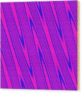 Pink And Blue Abstract Wood Print